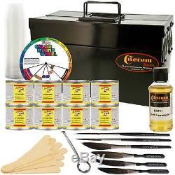 1 Shot Complete Striper Pinstriping & Lettering Enamel Starter Set 8 Colors