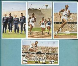 1936 Berlin Olympics Jesse Owens Color Rookies Muhlen Franck Psa + Complete Set