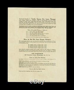 1940 Lone Ranger Premium Photos Photographs Complete Set (5/5) Superb Color