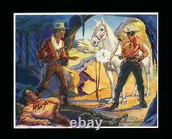 1940 Lone Ranger Premiums Photographs Complete Set 5/5 Bright Colors R83 Gum Inc