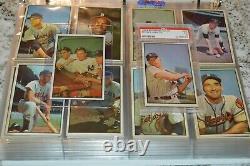 1953 Bowman Color Baseball Card Set In Binder! Mantle Psa 5! Complete 1-160