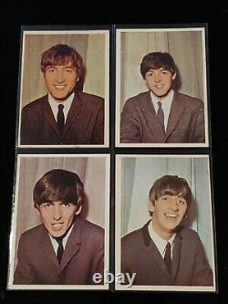 1964 Beatles Color Complete Set Of 64 Trading Cards T. C. G Ungraded + PSA 7 #57