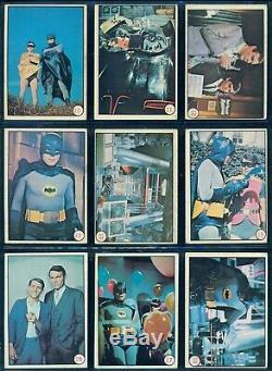 1966 TOPPS OPC O PEE CHEE BATMAN COLOR PHOTOS TV Show 55 CARD COMPLETE SET EX+