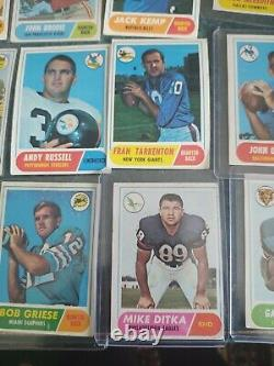 1968 topps football card complete set 219/219 ex/ex+ great color