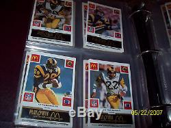 1986 McDonald's NFL FB COMPLETE SET All 29 Sets/All 4 Colors SUPER RARE