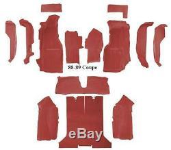 1988 1989 Corvette Complete Carpet Set. Coupe or Convertible. All Factory Colors
