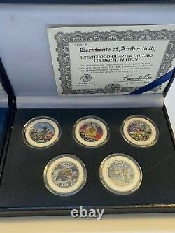 1999-2008 Complete Set Of 50 Colorized State Quarters Morgan Mint Certified