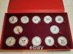 1999-2010 Australia Lunar I Complete SET WITH CASE 3 coins colored