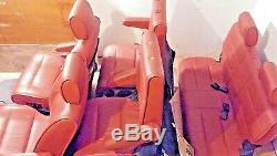2004-09 NISSAN QUEST 7 COMPLETE LEATHER SEATS SET COLOR CODE rouge (G)