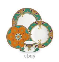 30 piece fine china porcelain dinner set beautiful colors brand new serves 6
