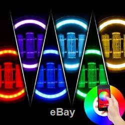 4pcs RGB Halo DRL Turn Signal LED Projector Head Lights+Fog Lamps Fit Wrangler