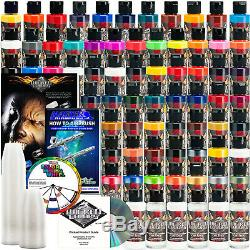 66 Createx Wicked Colors 2oz Complete Colors Airbrush Paint Set Hobby Craft