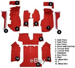 84-87 Corvette Coupe Complete Cutpile Replacement Carpet With Pad Choose Color