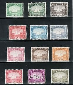 Aden #1 #12 Very Fine Never Hinged Complete Set Fresh Colors