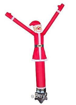 Air Dancer and Blower Complete Set 10ft Color Sky Dancer Tube Man Set RED SANTA