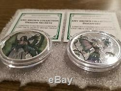Amy Brown Colorized 1 oz. 999 Silver Collection Complete Set of 6 Fairy queen