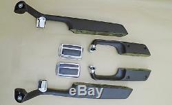 Armrests, BMW E3, Bavaria, 1971-73, Dark Brown Color, Complete set inkl. Ashtrays