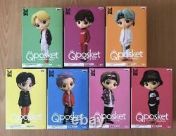 BTS TinyTAN Q Posket Figure B color Complete Set of 7 Banpresto Qposket