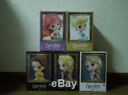 Banpresto Q POSKET Disney Characters Special Coloring Complete 5 Set NEW JAPAN
