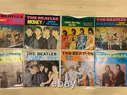 Beatles Lot Of 8 Deccagone 45rpm Colored Vinyl Complete Set VG+/NM Rare And HTF