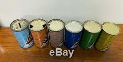 Blatz Colored Christmas flat top beer can Set Complete / AWESOME CONDITION