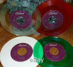 COMPLETE BEATLES SET! 30 RARE COLORED VINYL UNPLAYED MINT 45s withJUKESTRIPS