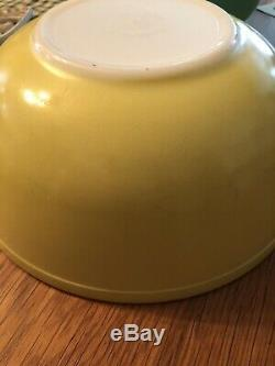 COMPLETE SET 4 VINTAGE Pyrex Glass PRIMARY COLORS MIXING BOWLS 1950s