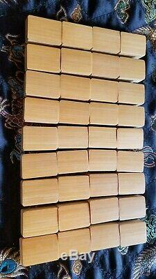 COMPLETE SET Great Coloration VINTAGE Bamboo and Bone MAHJONG Tiles Excellent