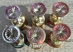 Carnival Gorgeous Electric Purple Diamond Sunburst Complete Wine Set Color