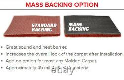 Complete Cutpile Molded Replacement Carpet Kit Choose Color and Backing