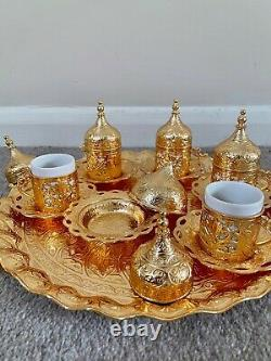Complete Serving Set for 6-Deluxe Set for Espresso, Turkish Coffee Gold Colour