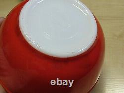 Complete Set 4 Vintage Pyrex Primary Colors Mixing Nesting Bowls With Labels Box
