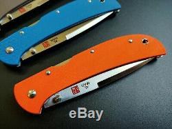 Complete Set of Colored G10 Al Mar Eagle Heavy Duty (HD) Talon ZDP-189 Knives