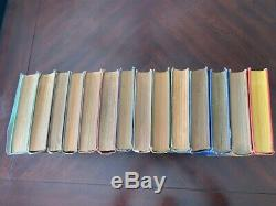 Complete set of 14 Frank Baum Oz books with color plates. Each books is 85+years