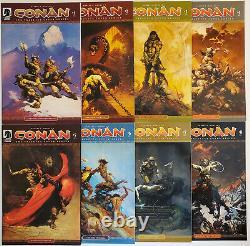 Conan The Frazetta Cover Series #1-8 (2007 Dark Horse) 2 3 4 5 6 7 Complete Set