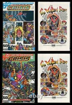 Crisis on Infinite Earths Comic Set 1-2-3-4-5-6-7-8-9-10-11-12 George Perez art