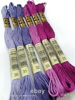 DMC 482 Solid color embroidery thread set complete. (Includes 35 new colors)