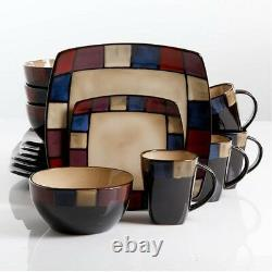 Dinnerware Set For 8 Stoneware Dinner Service 32 Piece Plates Bowls Mug Discount