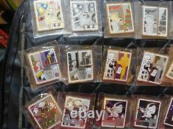 Disney Stamp Mystery Collection Chaser Set COMPLETE Pin Set Color with chasers