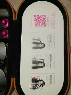 Dyson HS01 Airwrap Complete Styler Hair Styling Set Nickel / Fuchsia Color