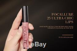 FOCALLURE 25 Colors Long Lasting Waterproof Matte Lipstick Liquid Lip Gloss 3