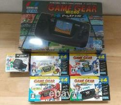 Game Gear Micro 4 Color Complete Set + 16 Pins Collection box limited SEGA
