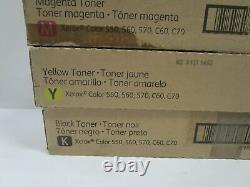Genuine Xerox Toner Color 550 560 570 C60 C70 Complete Set Cmyk New Sealed