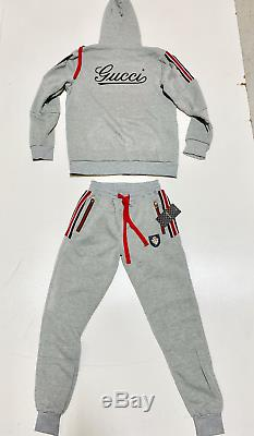 Gucci Mens Sweatsuit Top And Bottom Brand New Complete Set Matching Set