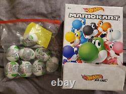 Hot Wheels Mario Kart Complete set of 8 Yoshi Mystery Eggs NEW Colors