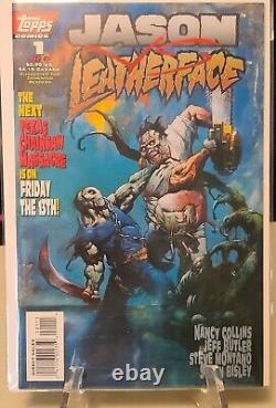 Jason vs. Leatherface complete set 1-3 Topps Comics NM- high grade 1995 Bisle