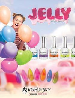 Kiara Sky Soak off Gel Polish Jelly Collection 0.5 oz- Your Choice Of Colors