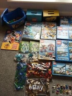 LEGO ENORMOUS BUNDLE of complete lego in boxes and loose lego colour blocked