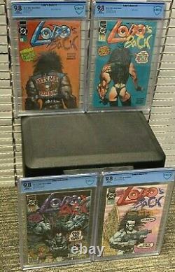 LOBO's BACK #1 2 3 4 x 9.8 HIGHEST Graded COMPLETE Run Set DC Comics CGCCBCS
