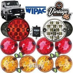 Land Rover Defender Complete Set 10 LED Lamp Light indicator Upgrade Kit RDX